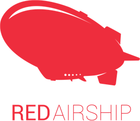 Red airship logo
